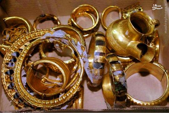 کشف آثار باستانی و گنج و دفینه های بزرگ طلا در مسیر رودخانه فرات در عراق
