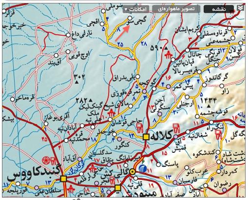 روستای گچی سو در نقشه