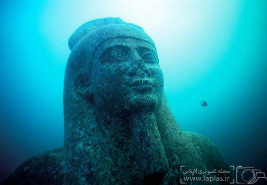 تصاویر کشف شهر گمشده مصری (هراکلیون) در زیر آب و پیدا کردن مجسمه فرعون