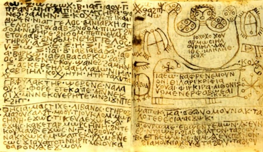 رمزیابی و رمزگشایی اسناد کهن ترین طلسم های جادویی در مصر باستان,مجموعه طلسمها و اشکال و واژگان رمزی و جادویی پاپیروسی
