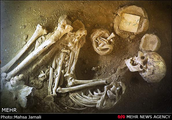 عکسهای موزه عصر آهن تبریز اجساد و اسکلت پیدا شده از قبرستان و گورستان باستانی