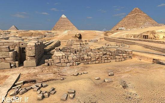 معجزه اهرام بزرگ مصر,رازهای اهرام ثلاثه مصر,مقبره های عظیم پادشاهان / تصاویر و عکس