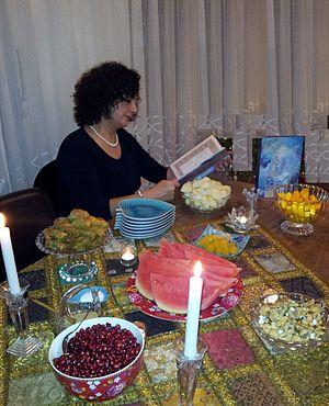 Persian Lady recites Hafez Poems in Yalda Night.jpg