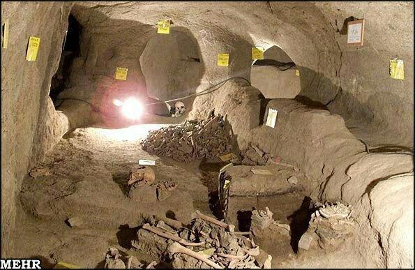 كشف قبرهای دوران هخامنشی تا دوره ساسانی و قبرستان و گورستان ساسانیان