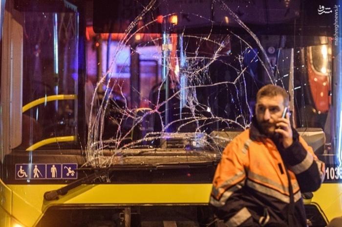عکسهای انفجار بمب در ورزشگاه بشیکتاش خودروی بمب گذاری شده در استانبول تعداد کشته و زخمی انفجار