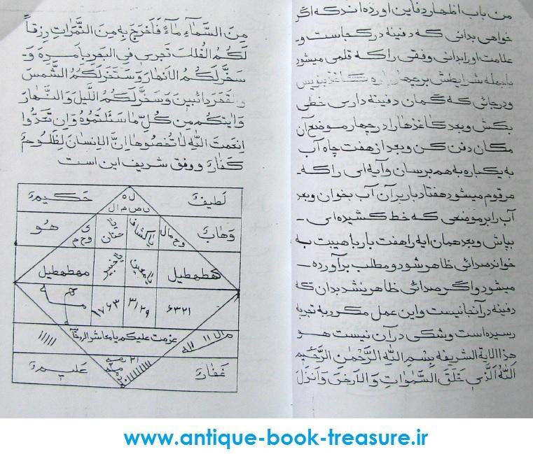 دانلود کتاب نایاب علوم غریبه گنج العرش طلسمات و دعاهای مجرب کنز الغرائب و بحر العجائب