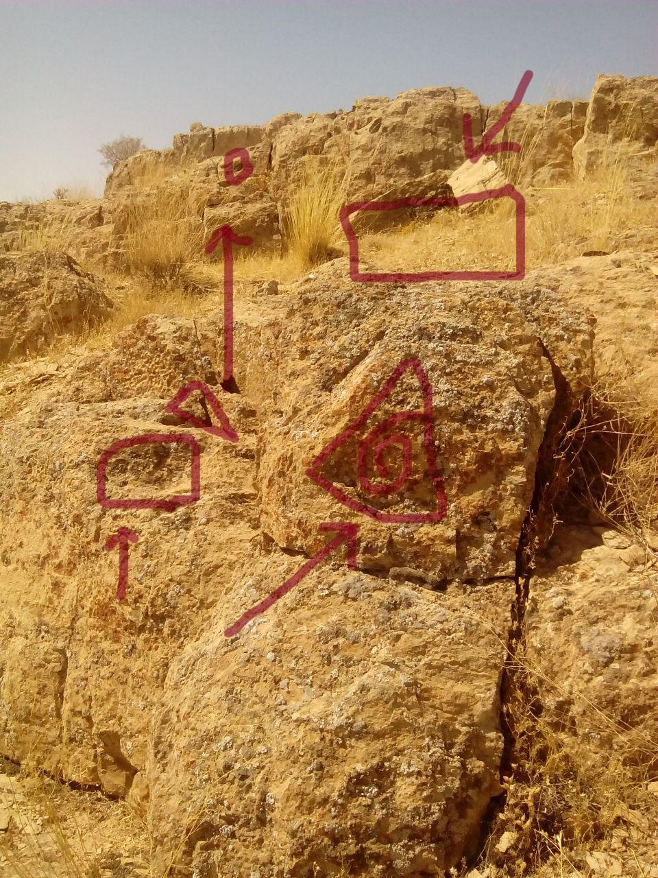 کارشناسی سنگ نگاره مثلث به همراه جوغن مثلث در گنج یابی