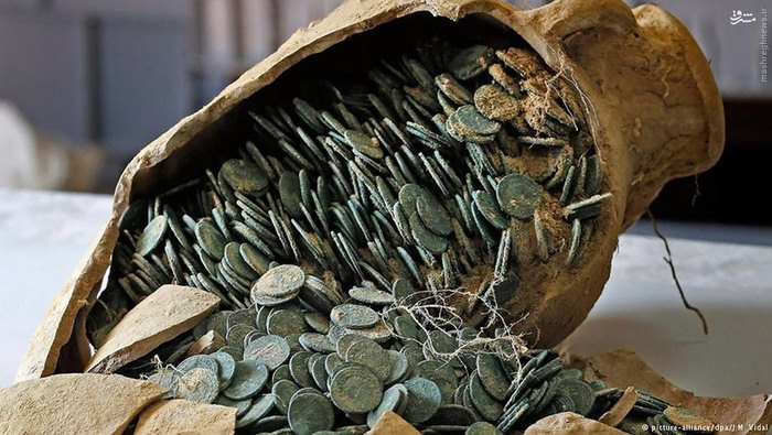 عکس گنجینه ای ازسکه های رومی