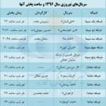 زمان و ساعت پخش فیلم و سریال نوروز ۱۳۹۶ شبکه یک دو سه چهار/شبکه تهران