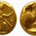 عکس سکه های کوروش بزرگ هخامنشی,در دوران پادشاهی کوروش کبیر کدام سکه ها ضرب می شدند ؟