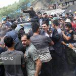 تصاویر و عکسهای اعتراض معدنچیان یورت به رئیس جمهور – روحانی مجبور شد معدن را ترک کند