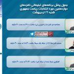 برنامه ۲ نامزد انتخابات ریاست جمهوری (روحانی و جهانگیری) مصاحبه و مناظره شنبه ۱۶ اردیبهشت ماه