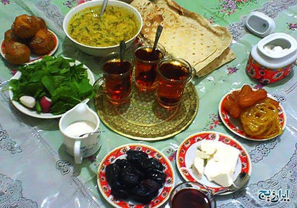 غذاهای مناسب برای افطار و سحری و روزه گرفتن در ماه مبارک رمضان