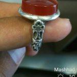 فروش انگشتر عقیق یمنی پرتغالی با رکاب صفوی بسیار زیبا